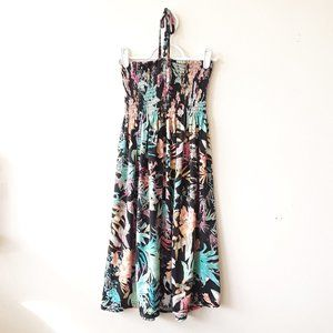 Candy Couture floral tropical halter beaded dress